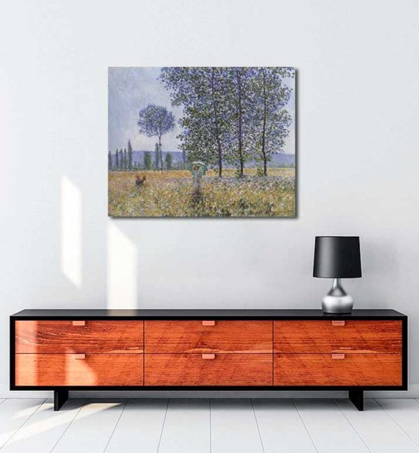Claude Monet - Kavaklar Altında Günışığının Etkisi kanvas tablo
