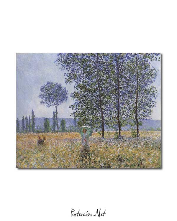 Claude Monet - Kavaklar Altında Günışığının Etkisi posteri