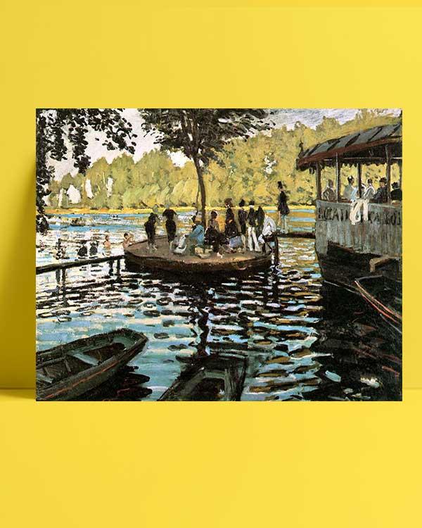 Claude Monet - La Grenouillere afişi