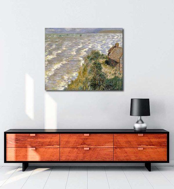 Claude Monet - Pourville'de Medcezir kanvas tablo