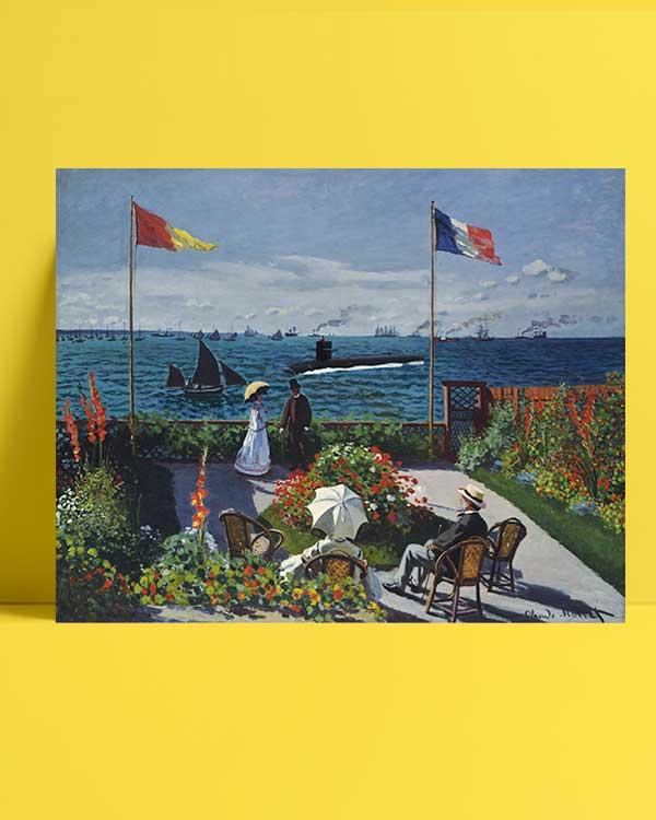 Claude Monet - Sainte Adresse'de Teras afişi