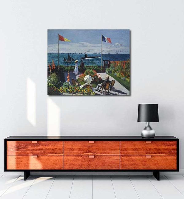 Claude Monet - Sainte Adresse'de Teras kanvas tablo