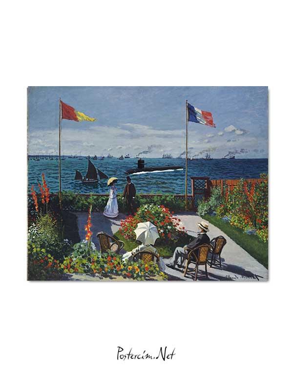 Claude Monet - Sainte Adresse'de Teras posteri