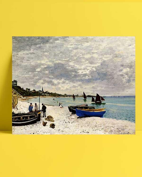 Claude Monet - Sainte-Adresse'te Kumsal afişi