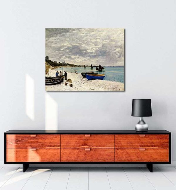 Claude Monet - Sainte-Adresse'te Kumsal kanvas tablo