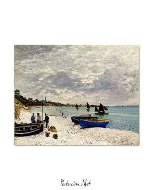 Claude Monet - Sainte-Adresse'te Kumsal posteri