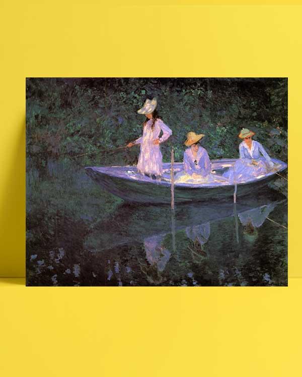 Claude Monet - Sandalda afişi