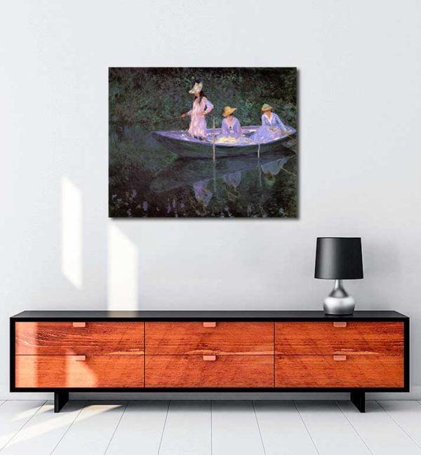Claude Monet - Sandalda kanvas tablo