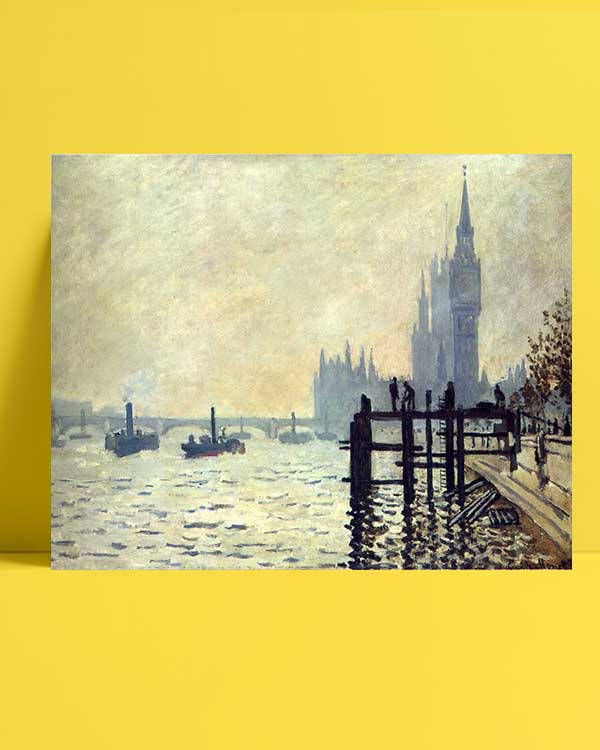 Claude Monet - Thames Nehri ve Parlamento Binası afişi