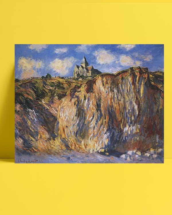 Claude Monet - Varangeville Kilisesi afişi