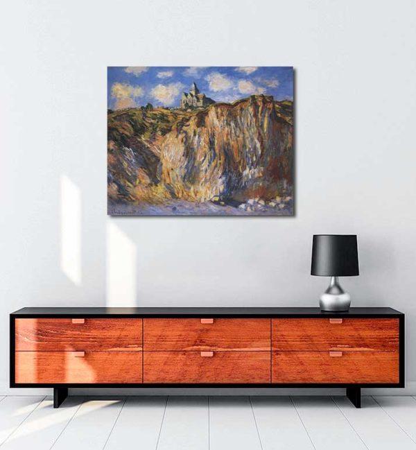 Claude Monet - Varangeville Kilisesi kanvas tablo