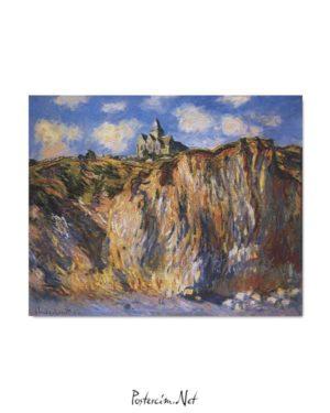 Claude Monet - Varangeville Kilisesi posteri