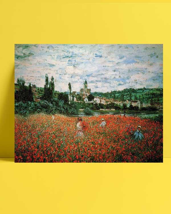 Claude Monet -Vetheuil Gelincik Tarlası afişi