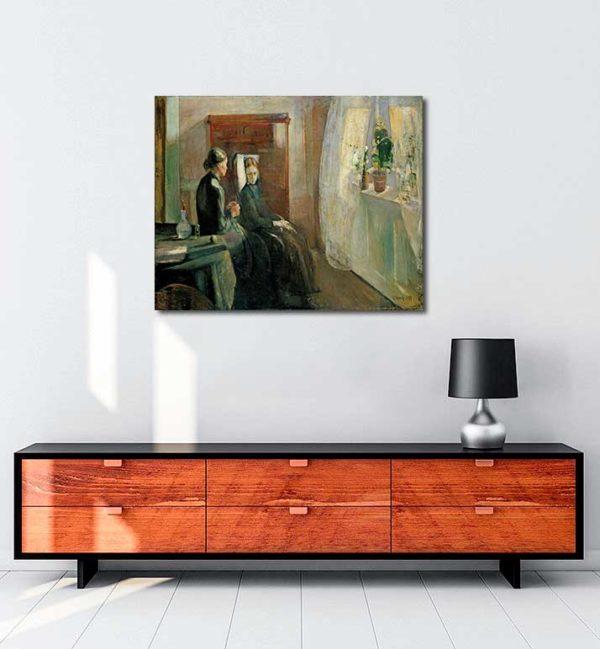 Edvard Munch - Bahar kanvas tablo