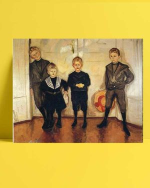 Edvard Munch - Doktor Linde'nin Dört Oğlu afişi