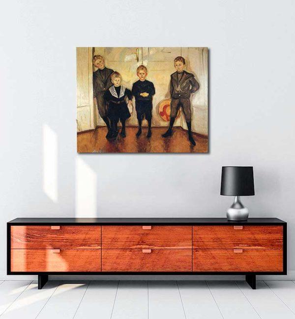 Edvard Munch - Doktor Linde'nin Dört Oğlu kanvas tablo
