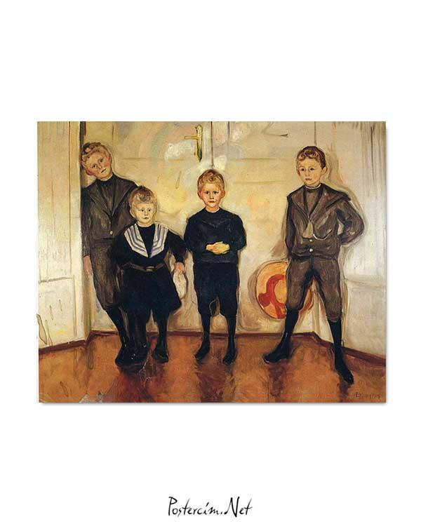Edvard Munch - Doktor Linde'nin Dört Oğlu posteri