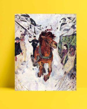 Edvard Munch - Dört Nala Giden At afişi