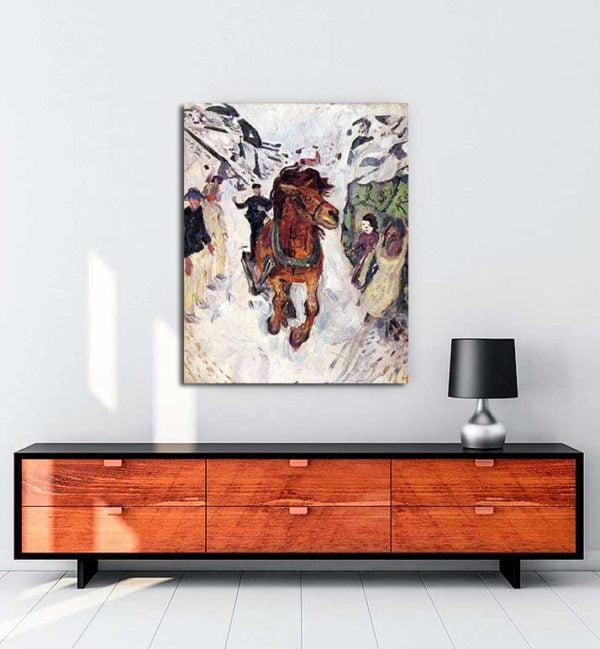Edvard Munch - Dört Nala Giden At kanvas tablo