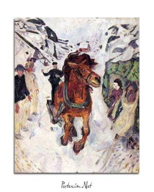 Edvard Munch - Dört Nala Giden At posteri