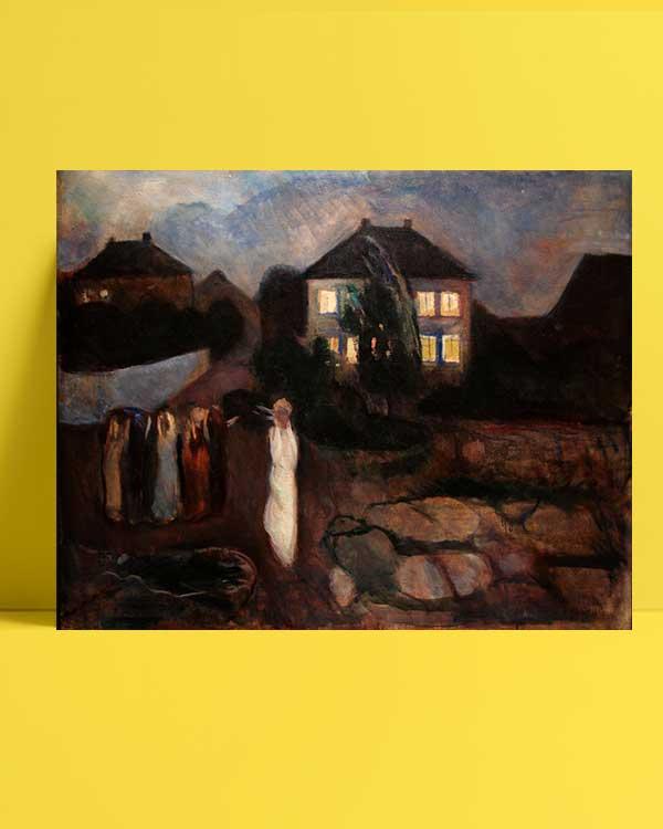 Edvard Munch - Fırtına afişi