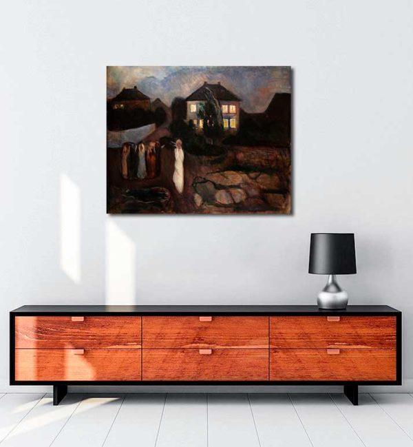 Edvard Munch - Fırtına kanvas tablo