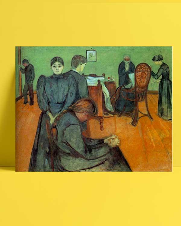 Edvard Munch - Hasta Odasında Ölüm afişi