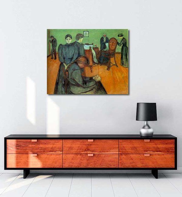 Edvard Munch - Hasta Odasında Ölüm kanvas tablo