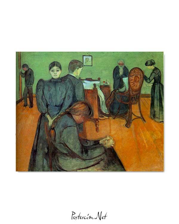Edvard Munch - Hasta Odasında Ölüm posteri