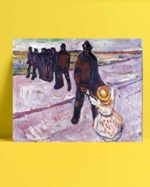 Edvard Munch - İşçi ve Çocuk afişi