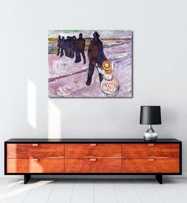 Edvard Munch - İşçi ve Çocuk kanvas tablo
