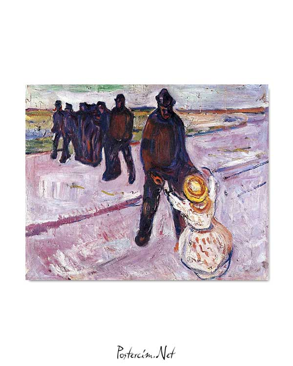 Edvard Munch - İşçi ve Çocuk posteri