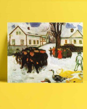 Edvard Munch - Kasaba Caddesi afişi
