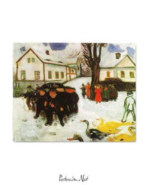 Edvard Munch - Kasaba Caddesi posteri