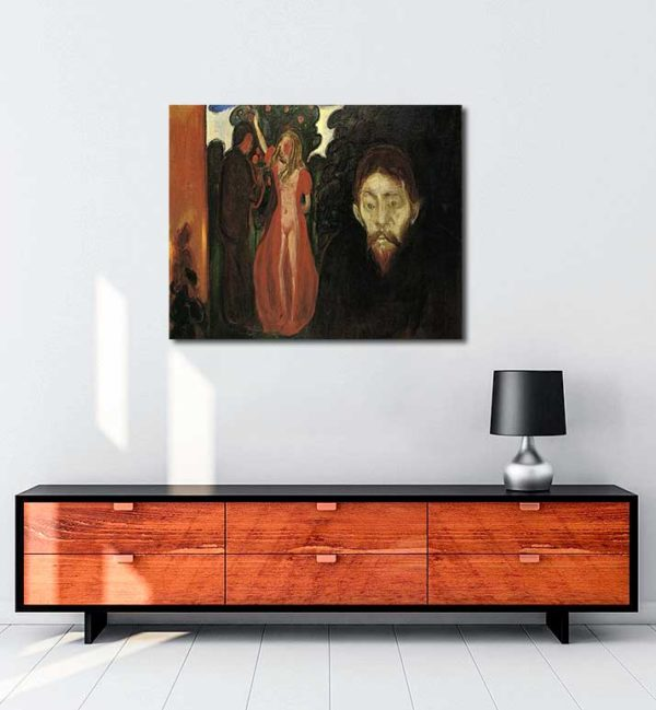 Edvard Munch - Kıskançlık kanvas tablo