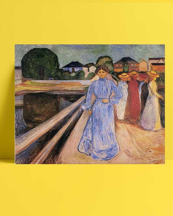 Edvard Munch - Köprü Üstündeki Kadınlar afişi