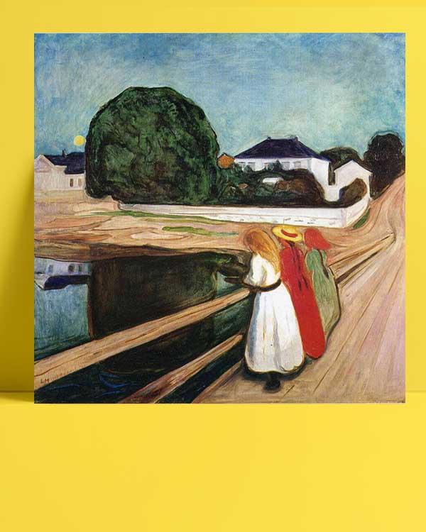 Edvard Munch - Köprü Üstündeki Kızlar afişi