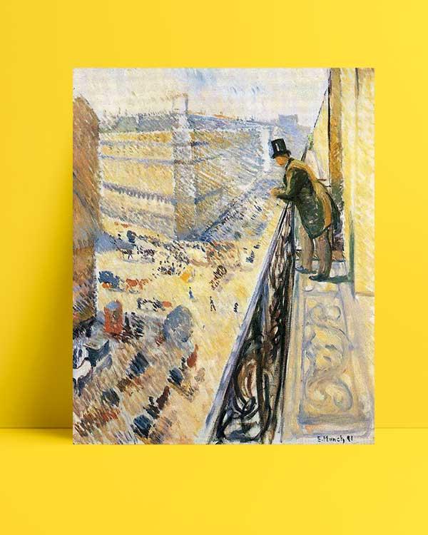 Edvard Munch - Lafaette Caddesi afişi