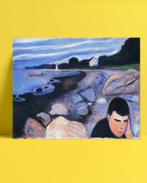 Edvard Munch - Melankoli afişi