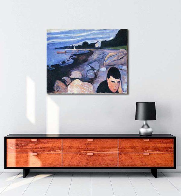Edvard Munch - Melankoli kanvas tablo