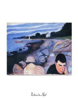 Edvard Munch - Melankoli posteri
