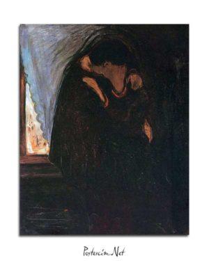 Edvard Munch - Öpücük posteri