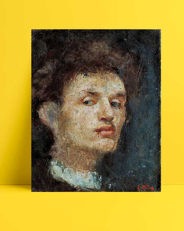 Edvard Munch - Otoportre afişi