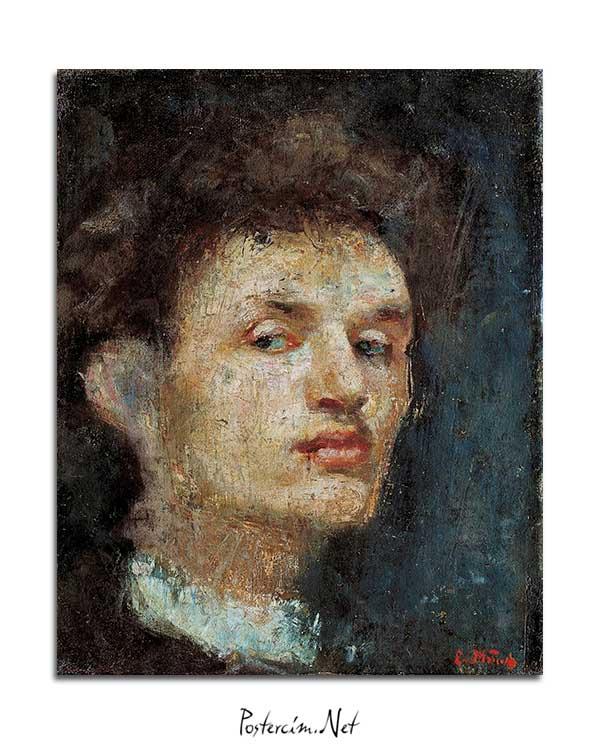 Edvard Munch - Otoportre posteri