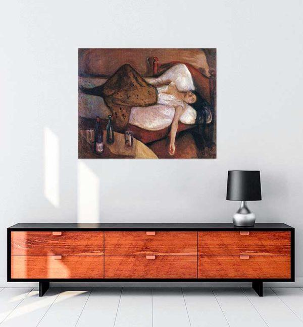 Edvard Munch - Sonraki Gün kanvas tablo