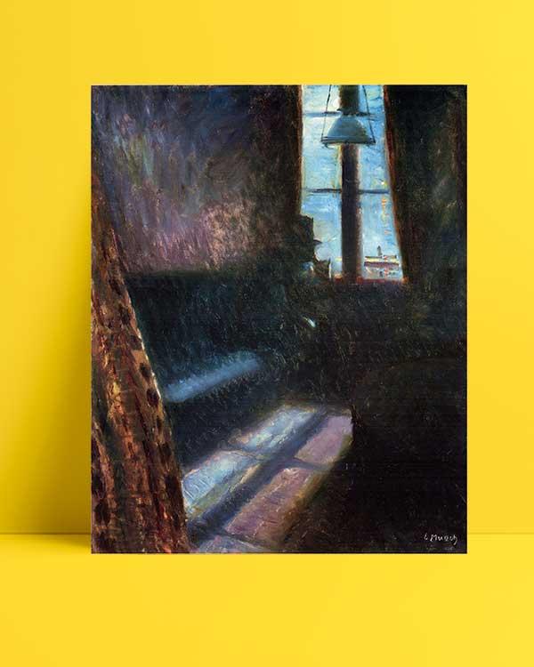 Edvard Munch - St. Cloud'da Gece afişi