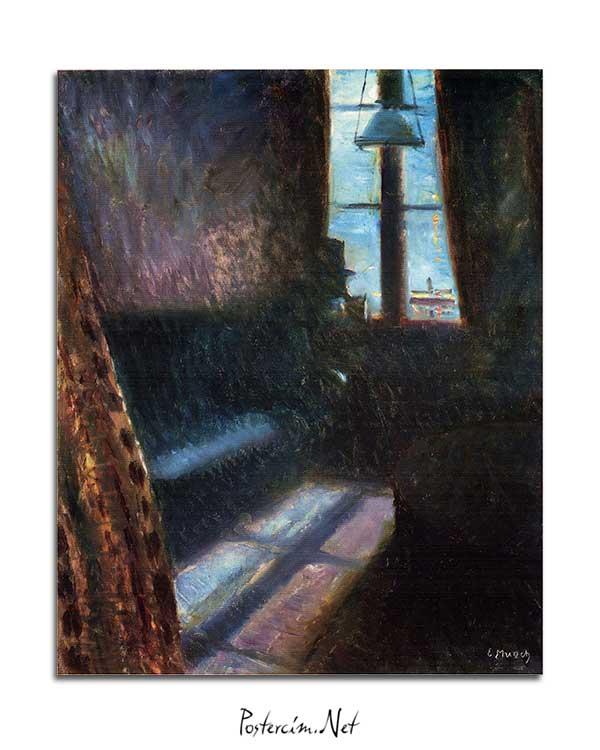 Edvard Munch - St. Cloud'da Gece posteri