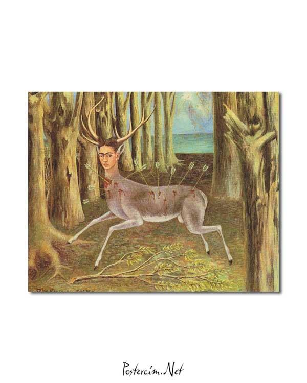Frida Kahlo - Küçük Zavallı Geyik posteri