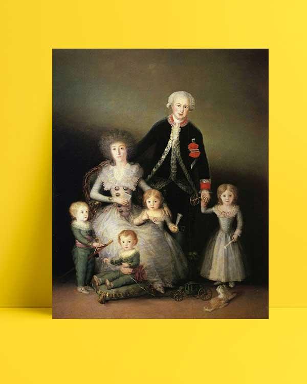Francisco Goya - Dük Osuna'nın Ailesi afişi