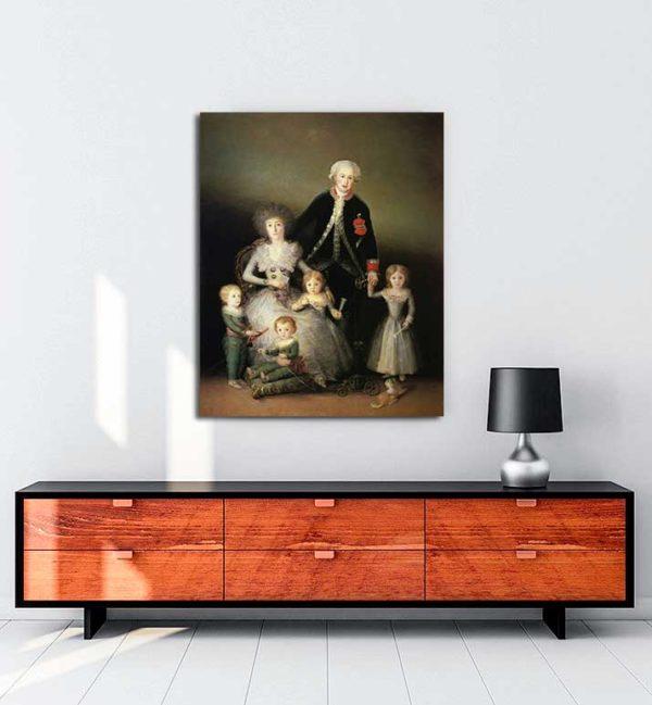 Francisco Goya - Dük Osuna'nın Ailesi kanvas tablo